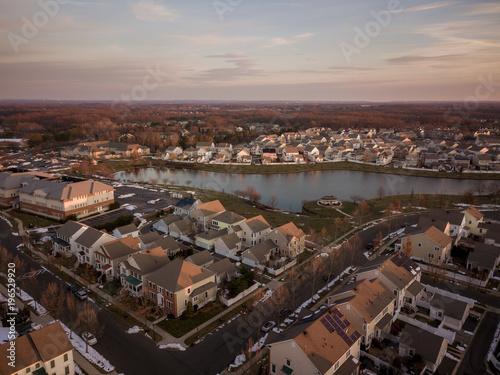 In de dag Ochtendgloren Aerial of Robbinsville NJ