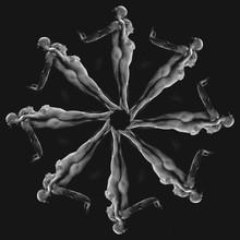 Human Kaleidoscope, Black Background