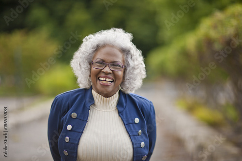 Portrait of a happy senior woman.