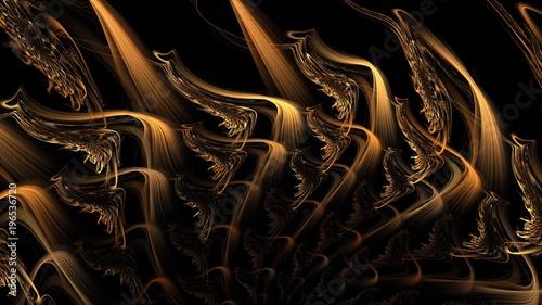 Photo  Vervielfältigung von Farbschlieren - goldbraun