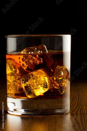Foto op Plexiglas Bar Glass of Whiskey and Ice