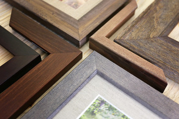 Collection of Solid Wood Picture Frame Samples