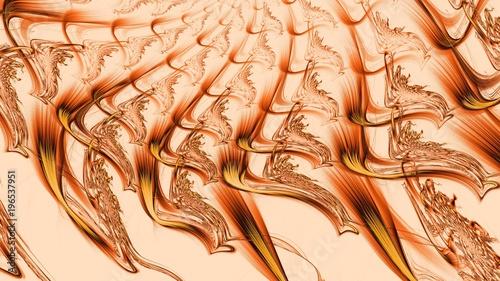 Photo  Vervielfältigung von Farbschlieren - Orange - hell