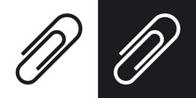 Vector Paper Clip Icon. Two-to...