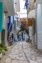 Street View On Skiathos Island, Greece