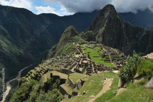Photo Stands South America Country Landscape in Machu Picchu