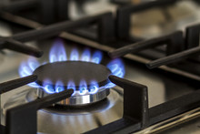 Natural Gas Burning On Kitchen...