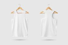Blank White Tank Top Shirt Moc...