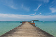 Wooden pier in Phuket, Thailand. Summer, Travel, Vacation and Holiday concept.
