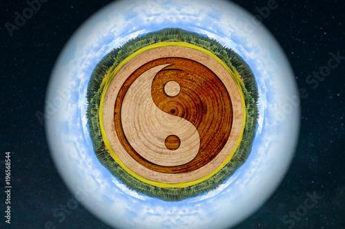 Fotografie, Obraz  yin and yang, balance, meditation