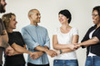 canvas print picture Diverse people with teamwork concept