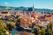 Cesky Krumlov cityscape and Vltava river in Czech