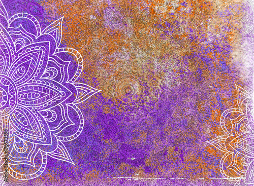 Photo  Grunge Mandala Background