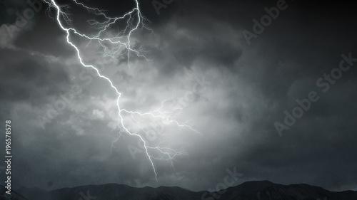 Fototapety, obrazy: Dramatic thunder background