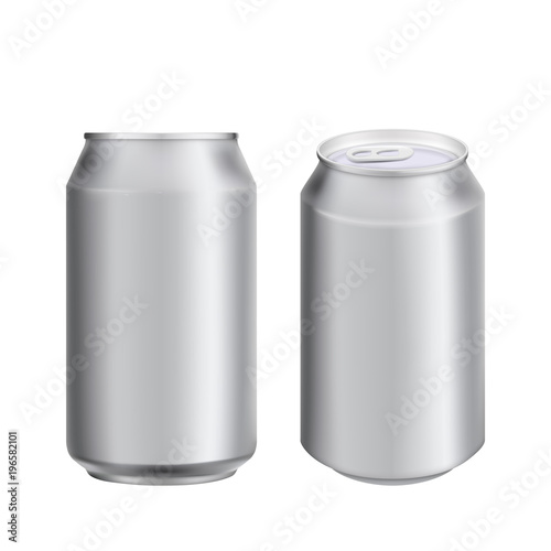 Aluminium can drink soad or beer package template Canvas Print