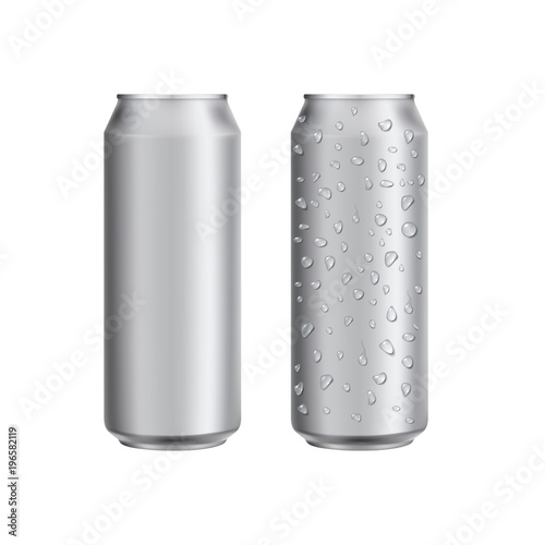 Aluminium can drink soad or beer package template Wallpaper Mural