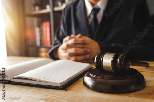 Vászonkép  justice and law concept