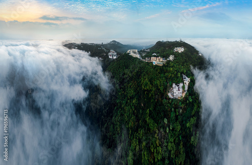 Hong Kong misty season landscape Poster