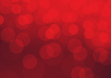 Red Bokeh Blur Light Luxury Background Vector Illustration.