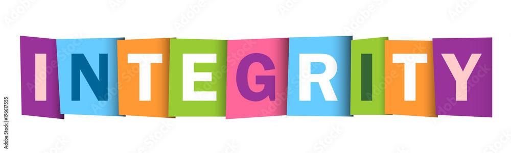 Fototapeta INTEGRITY colourful vector letters icon