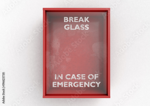 Break In Case Of Emergency Red Box Canvas Print