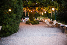 Villa Garden With Large Magnol...