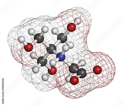 Valokuva  Tricine buffering agent molecule