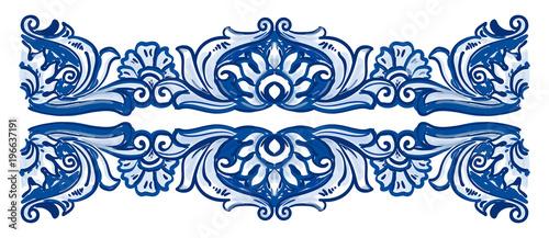Photo Azulejos Portuguese watercolor