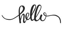Hand Drawn Word Hello Vector I...