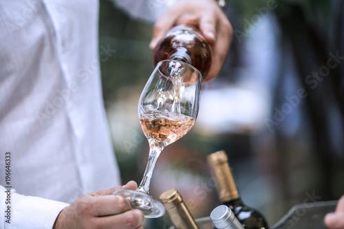 Rose Wine Glass Billede på lærred