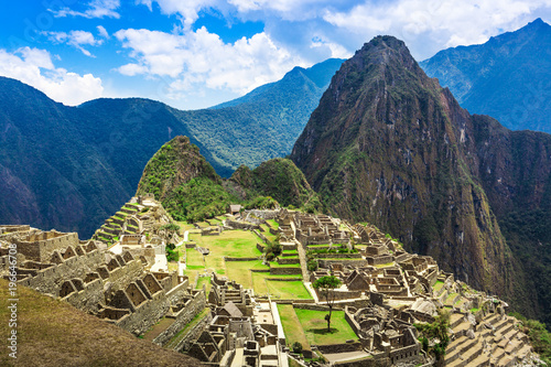 Poster Con. ancienne Macchu Picchu old town on sunny day