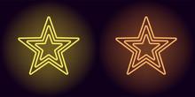 Neon Yellow And Orange Star