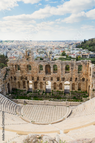 Poster Athens Herodes Atticus amphitheater of Acropolis, Athens