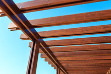 Part Of The Wooden Roof Structure.
