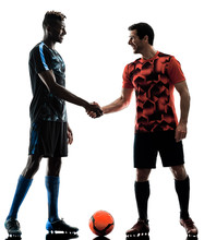 Two Soccer Players Men In Stud...