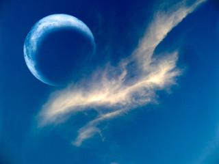 eclipse of the moon is  rare phenomenon same white crow cloud