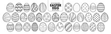 Set Of Isolated Easter Eggs In 35 Styles.
