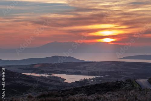 Photo Winter Sunset over Misty Arran