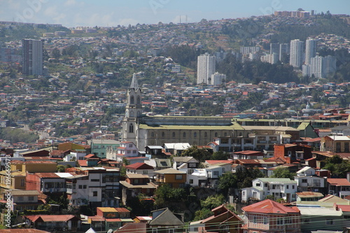 Poster Antwerpen Blick über Valparaíso –Chile