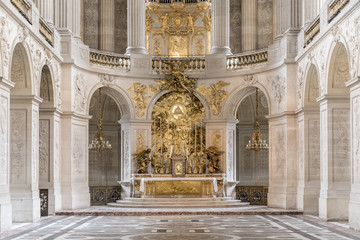 Chapel in Versaille Palace, Paris, France