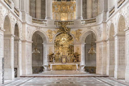 Fotografiet Chapel in Versaille Palace, Paris, France