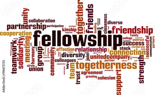 Fellowship word cloud Tableau sur Toile