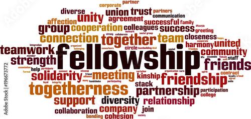 Cuadros en Lienzo Fellowship word cloud