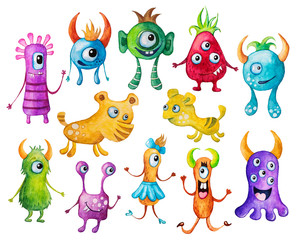 Naklejka Colorful monsters