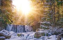 Sunshine Over Wild Waterfall I...