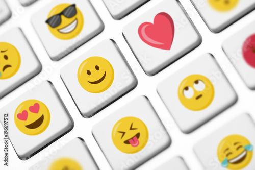 Smileys Emoticons Emojis Tastatur Caomputer Wallpaper Mural