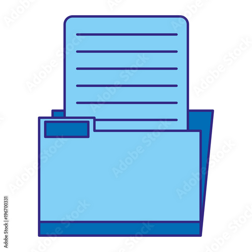 duo color folder file archive with document information Poster