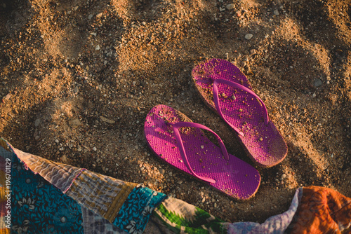 d4156ed0c Empty Shoes at the beach - Buy this stock photo and explore similar ...