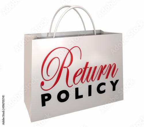 Fotomural Return Policy Satisfaction Guaranteed Shopping Bag 3d Illustration