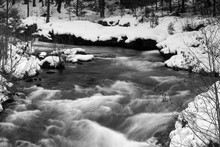 Rogue River Bend Raging Water Torrent Oregon State